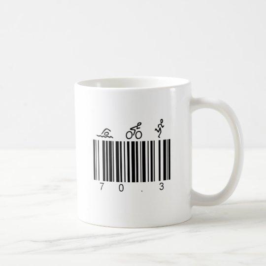 Bar code 70.3 coffee mug