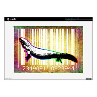 """Bar Code Art Design Vector Fun Color 15"""" Laptop Decal"""