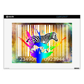 "Bar Code Art Design Vector Fun Color 15"" Laptop Skin"