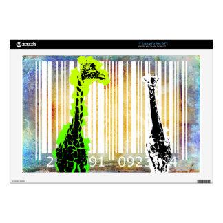 "Bar Code Art Design Vector Fun Color 17"" Laptop Skin"