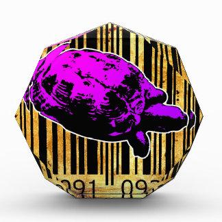 Bar Code Art Design Vector Fun Color Acrylic Award
