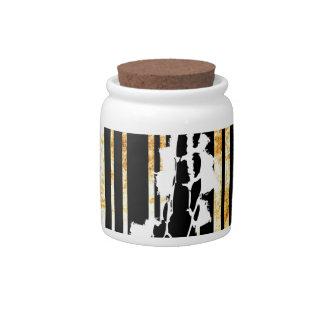 Bar Code Art Design Vector Fun Color Candy Jar