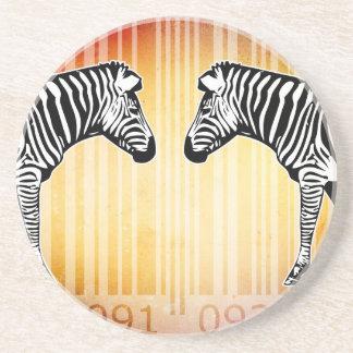 Bar Code Art Design Vector Fun Color Coasters