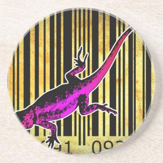 Bar Code Art Design Vector Fun Color Drink Coaster