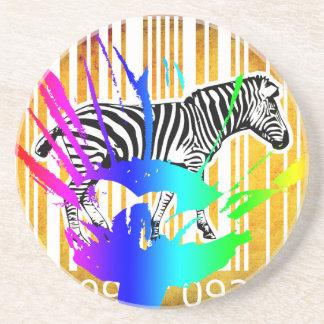 Bar Code Art Design Vector Fun Color Drink Coasters