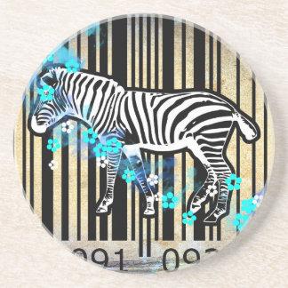 Bar Code Art Design Vector Fun Color Coaster