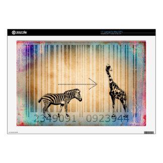 """Bar Code Art Design Vector Fun Color Decal For 17"""" Laptop"""