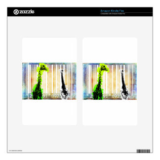 Bar Code Art Design Vector Fun Color Decal For Kindle Fire