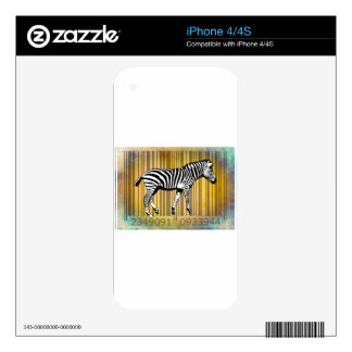 Bar Code Art Design Vector Fun Color Decal For The iPhone 4S
