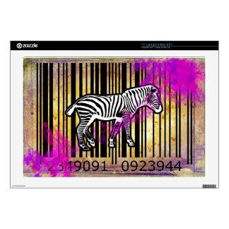 "Bar Code Art Design Vector Fun Color Decals For 17"" Laptops"