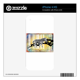 Bar Code Art Design Vector Fun Color Decals For The iPhone 4