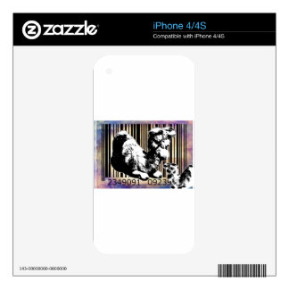 Bar Code Art Design Vector Fun Color Decals For The iPhone 4S