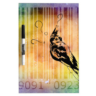Bar Code Art Design Vector Fun Color Dry-Erase Board