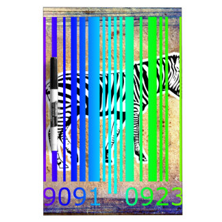 Bar Code Art Design Vector Fun Color Dry-Erase Whiteboard