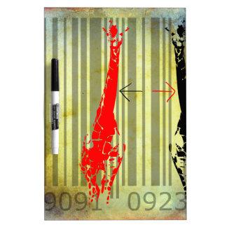Bar Code Art Design Vector Fun Color Dry Erase Whiteboards