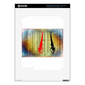 Bar Code Art Design Vector Fun Color iPad 3 Skin
