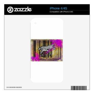 Bar Code Art Design Vector Fun Color iPhone 4 Skins