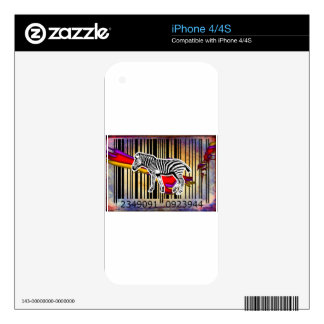 Bar Code Art Design Vector Fun Color iPhone 4S Decal