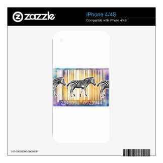 Bar Code Art Design Vector Fun Color iPhone 4S Skin