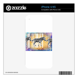 Bar Code Art Design Vector Fun Color iPhone 4S Skins