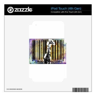 Bar Code Art Design Vector Fun Color iPod Touch 4G Decal