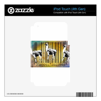 Bar Code Art Design Vector Fun Color iPod Touch 4G Decals
