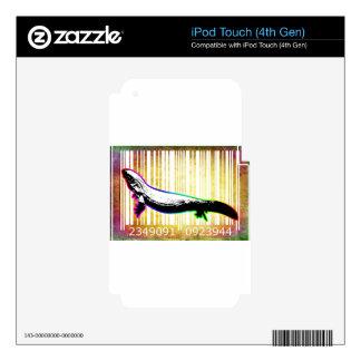 Bar Code Art Design Vector Fun Color iPod Touch 4G Skin