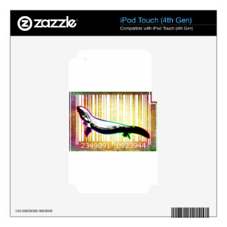 Bar Code Art Design Vector Fun Color iPod Touch 4G Skins