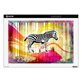 Bar Code Art Design Vector Fun Color Laptop Decal