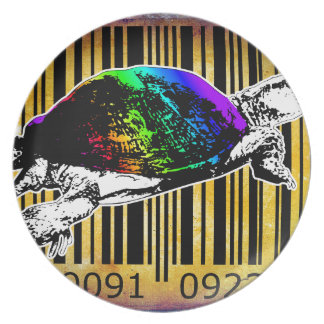 Bar Code Art Design Vector Fun Color Plate