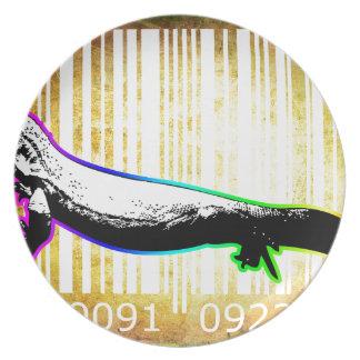 Bar Code Art Design Vector Fun Color Plate