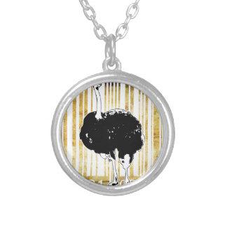 Bar Code Art Design Vector Fun Color Silver Plated Necklace