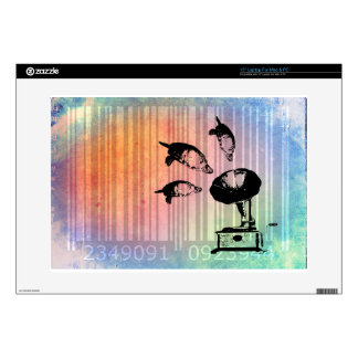"Bar Code Art Design Vector Fun Color Decals For 15"" Laptops"