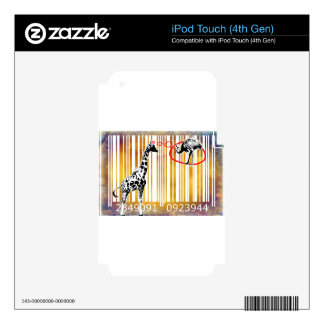 Bar Code Art Design Vector Fun Color Skin For iPod Touch 4G