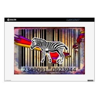 "Bar Code Art Design Vector Fun Color Skin For 15"" Laptop"