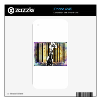 Bar Code Art Design Vector Fun Color Skin For The iPhone 4S
