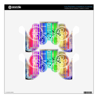 Bar Code Art Design Vector Fun Color Skins For PS3 Controllers