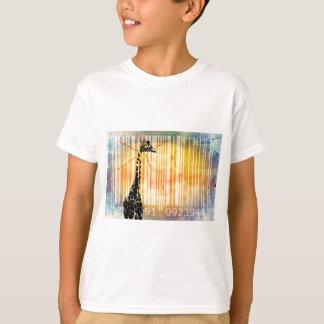 Bar Code Art Design Vector Fun Color T-Shirt