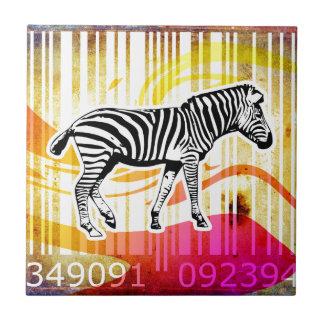 Bar Code Art Design Vector Fun Color Tile
