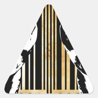 Bar Code Art Design Vector Fun Color Triangle Sticker