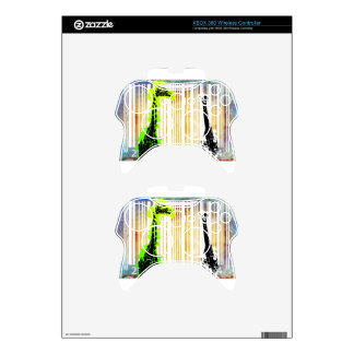 Bar Code Art Design Vector Fun Color Xbox 360 Controller Decal