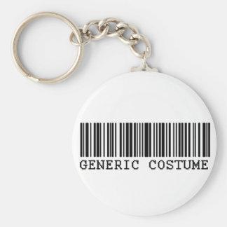 BAR CODE COSTUME Generic Halloween Costume Basic Round Button Keychain