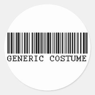 BAR CODE COSTUME Generic Halloween Costume Classic Round Sticker