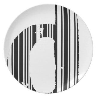 Bar Code D Dinner Plate