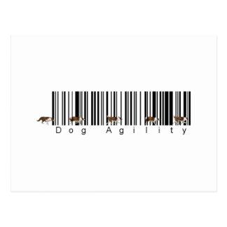 Bar Code Dog Agility weave Postcard