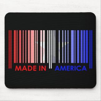 Bar Code Flag Color AMERICA Dark Design Mouse Pad