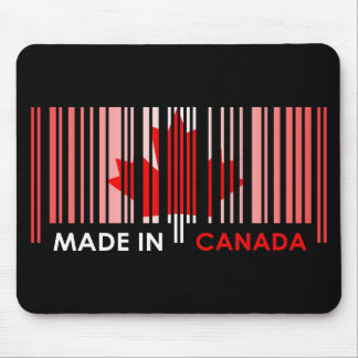 Bar Code Flag Color CANADA Dark Design Mouse Pad