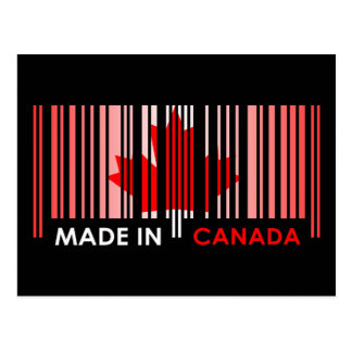 Bar Code Flag Color CANADA Dark Design Postcard