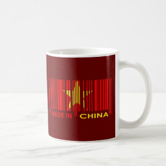 Bar Code Flag Colors CHINA Dark Design Coffee Mug