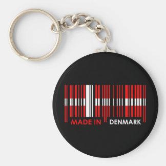 Bar Code Flag Colors DENMARK Design Basic Round Button Keychain